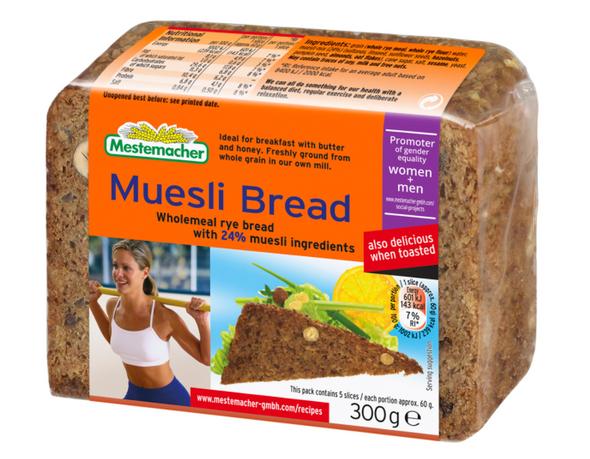 Mestemacher Muesli Rye Bread 10.5oz (300g)