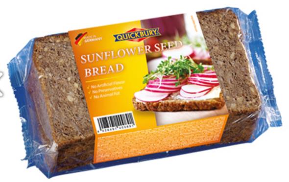 Quickbury Sunflower Seed Bread 16 oz (500g)