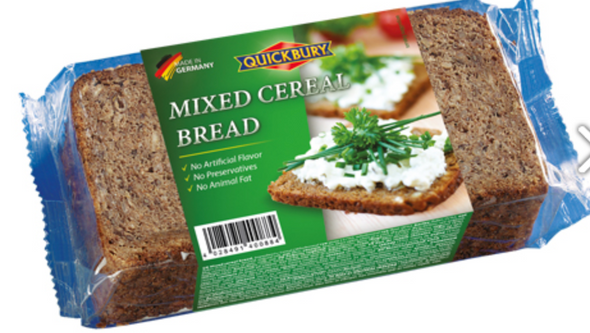 Quickbury Mixed Cereal Bread 16 oz (500g)