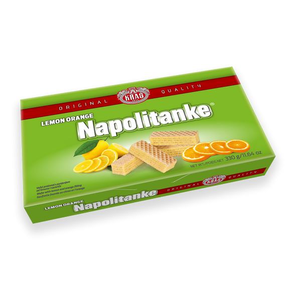 Napolitanke Lemon Orange Wafers 330g