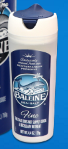 Baleine Fine Sea Salt Shaker 125g
