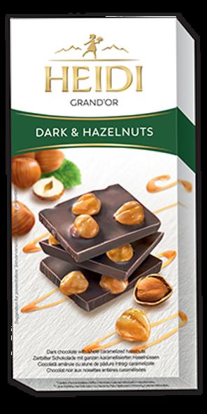 Heidi Grand'Or Dark & Hazelnuts 100g