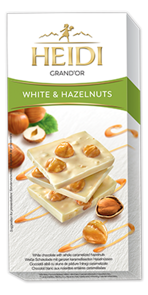 Heidi Grand'Or White & Hazelnuts 100g