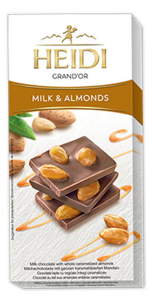 Heidi Grand'Or Milk & Almonds 100g