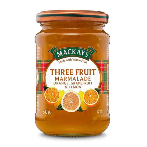 Mackays Three Fruit Marmalade, Orange Grapefruit and Lemon 12oz 340g