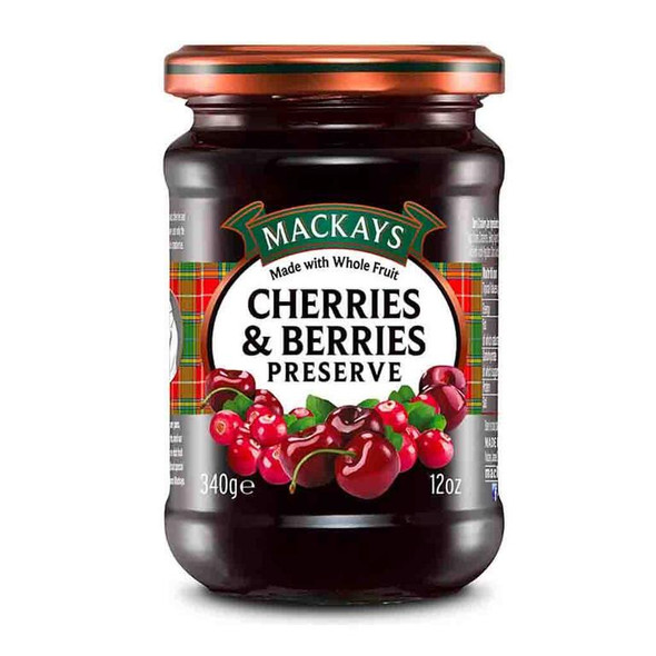 Using traditional open copper pans, the highest quality soft fruit, and Mackays authentic methods, they ensure rich fruit flavors in every batch and that special home-made taste you expect from Mackays! Ingredients: sugar, cherries, cranberries, gelling agent: fruit pectin, acidity regulator: citric acid Facts: Product of Scotland