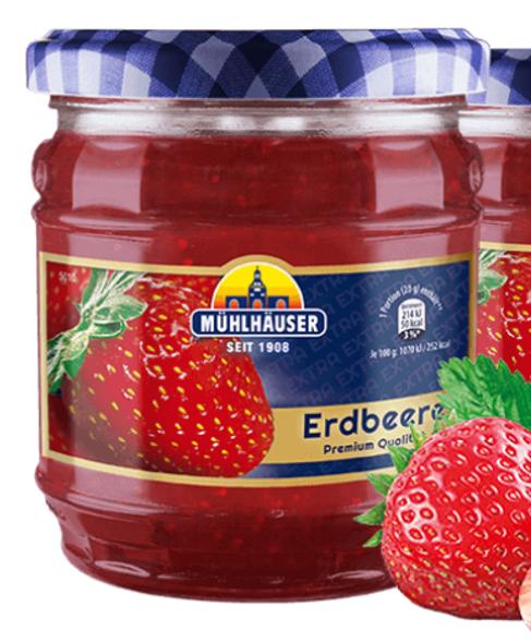 Muhlhauser Premium Strawberry Jam 450g