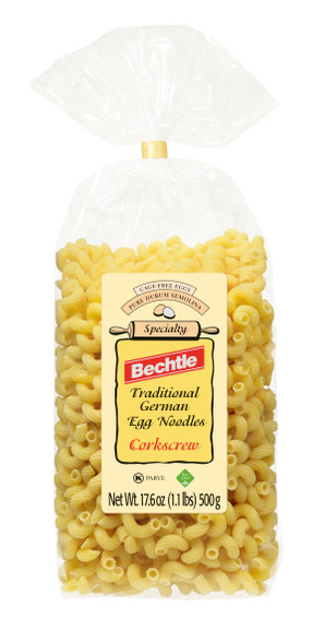 Bechtle Egg Noodles Cork Screw Style 17.6oz (500g)