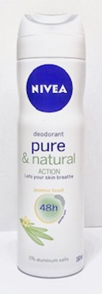 Nivea Deodorant Pure & Natural Action 150ml 5oz