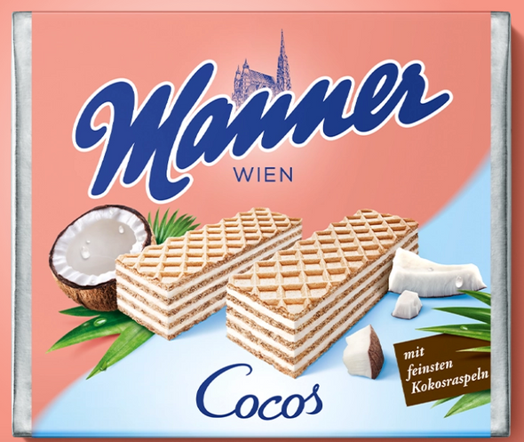 Manner Coconut Wafer 2.5oz (72g)