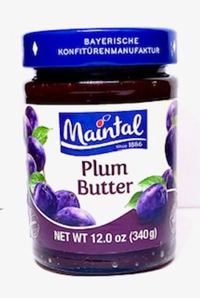 Plum Butter Fruit Spread 12oz   What happens when more than 130 years of experience meet selected ingredients? If you would like to know, all you have to do is try one of our delicious products. It really doesn't matter whether you choose a jam, marmalade, jelly or fruit spread – because our passion and experience go into every single jar.