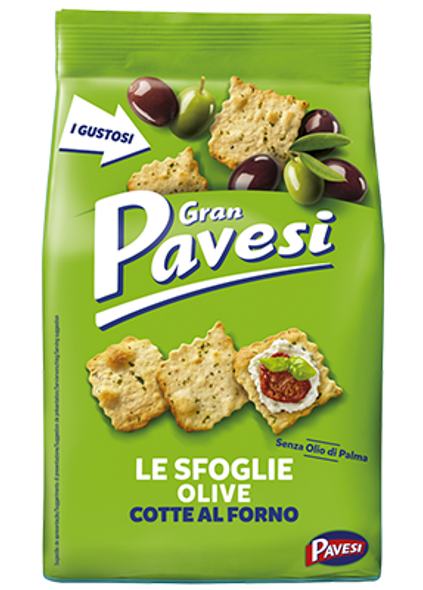 Gran Pavesi Le Sfoglie Olive Crackers 5.64oz