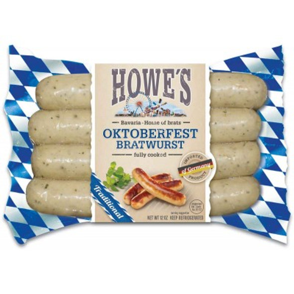 Howe Bavarian Bratwurst (4) pack 12oz