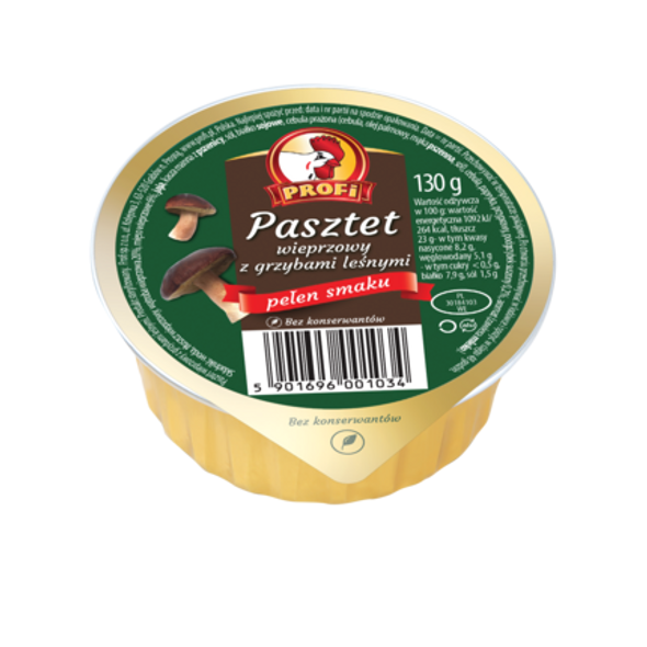 Profi Pork Pate w/ Forest Mushrooms 4.6oz (130g)