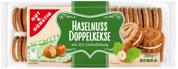Gut & Gunstig Haselnuss Doppelkekse Cookies  8.75oz (250g)
