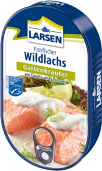 Larsen Wild Salmon Garlic Sauce 200g