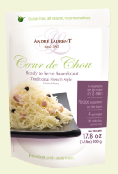 Andre Laurent Sauerkraut French Style Pouch 17.8oz (500g)