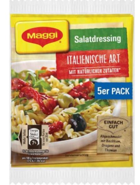 Maggi Salatdressing Italienische Art mit naturlichen zutaten (5 pack) 8g each