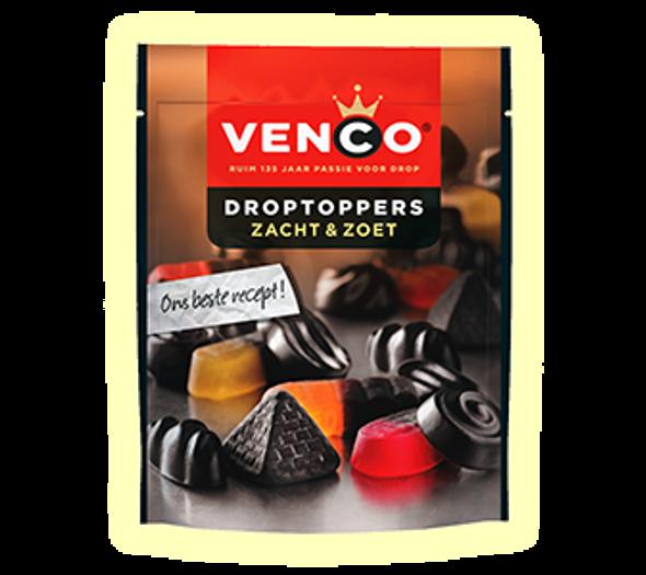 Venco Droptoppers Zacht & Zoet 210g