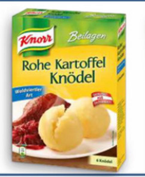 Knorr Rohe Kartoffel Knodel 160g