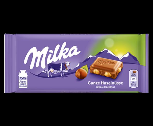 Milka Ganze Haselnusse (hazelnut) 3.5oz (100g)