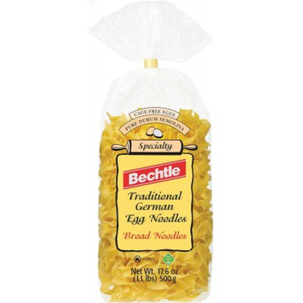 Bechtle Traditional German Egg Noodles Broad Noodles 17.6oz (500g)