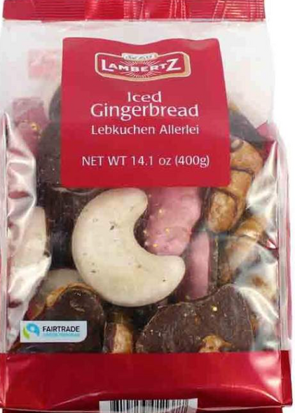 Lambertz Iced Gingerbread Lebkuchen Allerlei Cookies 7.05oz (200g)
