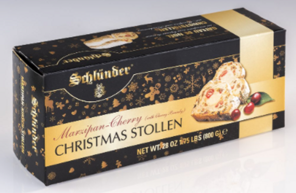 Schlünder Marzipan-Cherry Christmas Stollen 28oz (800g)