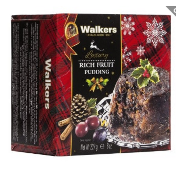Walkers Luxury Rich Fruit Pudding 8oz (227g)