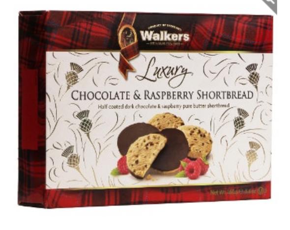 Walkers Luxury Chocolate & Raspberry Shortbread 5.6oz (160g)