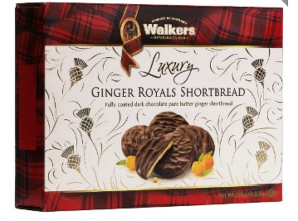 Walkers Ginger Royals Shortbread 5.3oz (150g)