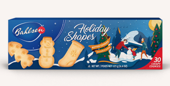 Bahlsen Butter Cookie Holiday Shapes 4.4oz (125g)