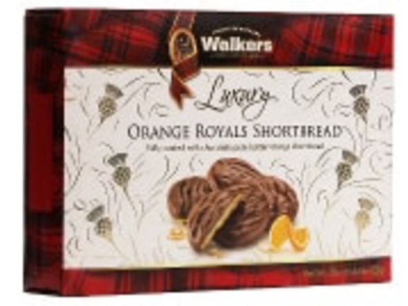 Walkers Luxury Orange Royals Shortbread 5.3oz (150g)