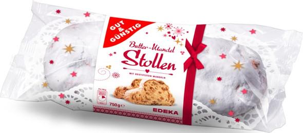 Gut & Gunstig Butter Mandel Stollen 750g