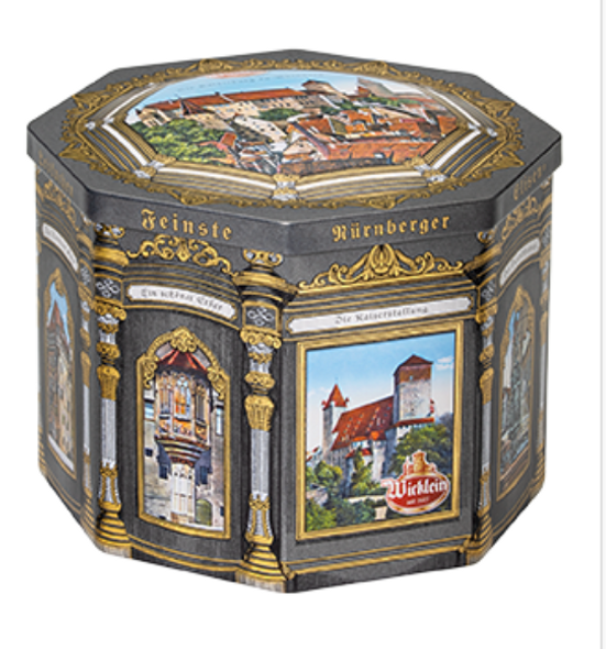 Wicklein Nurnberger Elison-Lebkuchen Cookie Tin 17.4oz (500g)