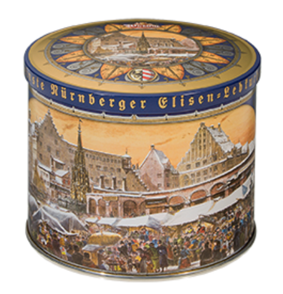 Wicklein Nurnberger Elison-Lebkuchen Cookie Tin 200g