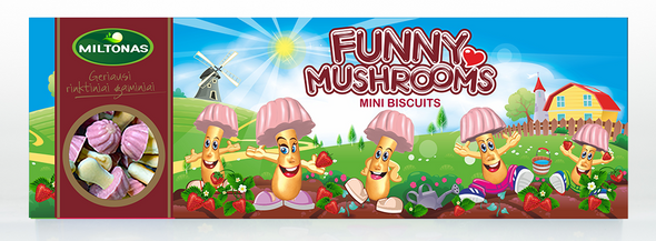 Miltonas Strawberry Funny Mushrooms 170g