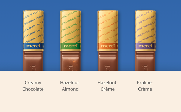 Merci Finest Assorted Milk Chocolates 8.8 oz (250g)