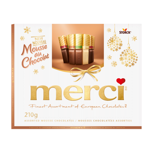 Merci Finest Assortment of Limited Edition Chocolate Mousse Chocolates 8.8oz. (250g)
