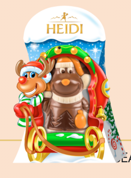 Heidi Milk Chocolate Reindeer 2.47oz. (70g)
