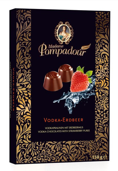 Madame Pompadour Vodka-Erdbeer Chocolates 5.3oz. (150g)