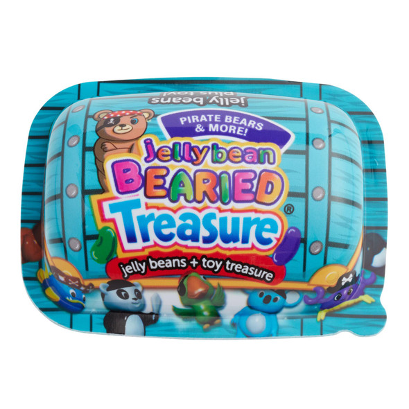 Jelly Bean Bearied Treasure Pirate Bears Jelly Beans + Toys 1oz. (28g)