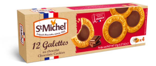 St Michel 12 Galettes Chocolate Cookies 4.27ox ( 121g)