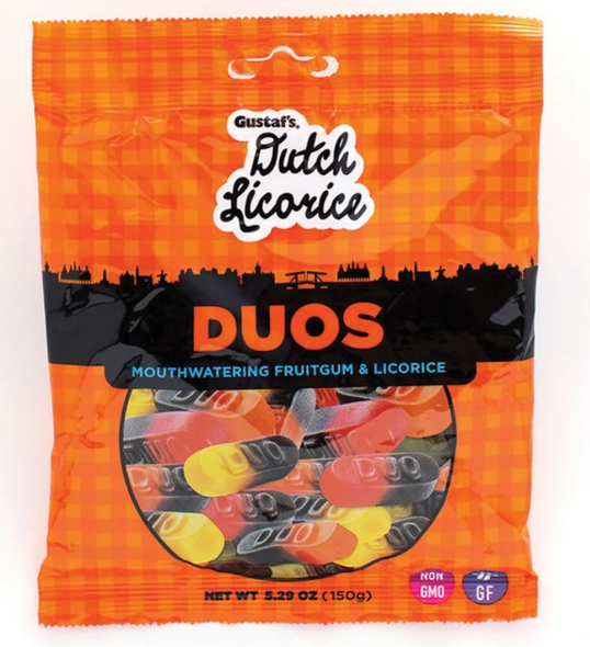 Gustaf's Dutch Duos Licorice & Fruitgum 5.29 oz (150g)