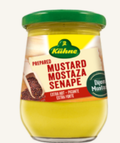 Kuhne Extra Hot Mustard 250ml