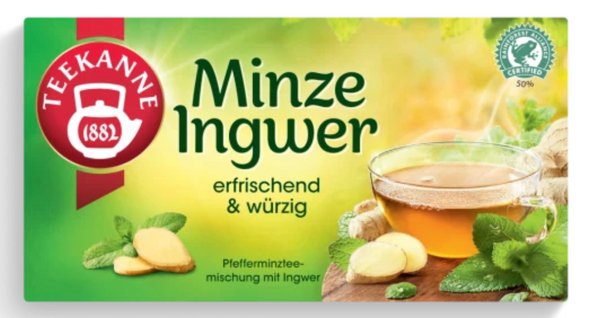 Teekanne Minze Zitrone 20 bags (30g)