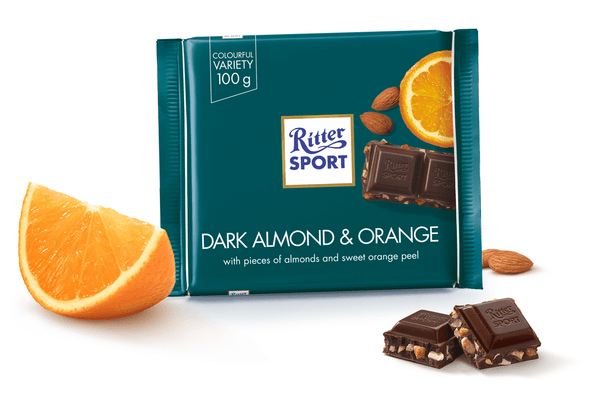 Ritter Sport Mandel Orange 3.5oz (100g)