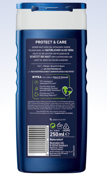 Nivea Men Protect & Care Shower Gel 250ml