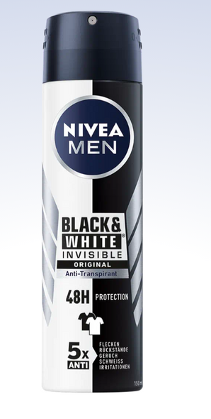 Nivea Men Black & White Anti-Perspirant 150ml