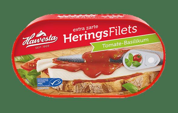 Hawesta Herring Fillets Tomate-Basilikum 200g